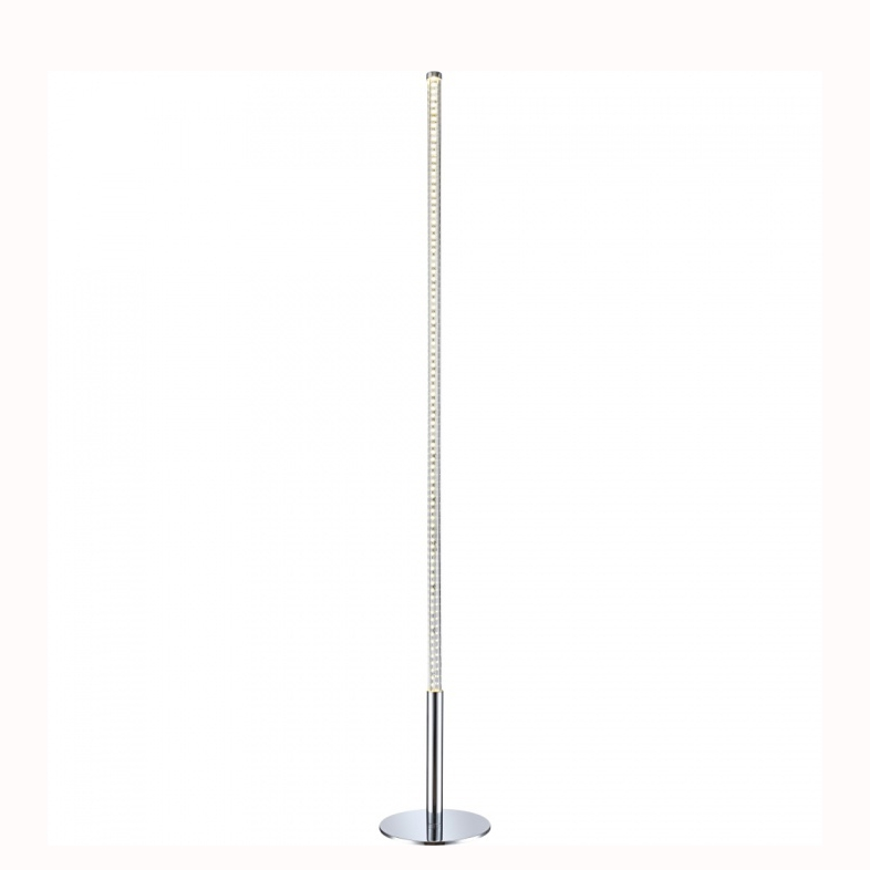 Торшер GloboТоршеры<br>Стиль светильника: модерн,<br>Назначение светильника: для комнаты,<br>Материал светильника: металл/пластик,<br>Длина (мм): 250,<br>Ширина: 250,<br>Высота: 1700,<br>Количество ламп: 1,<br>Тип лампы: светодиодная,<br>Мощность: 28,<br>Патрон: LED,<br>Цвет арматуры: серебристый<br>