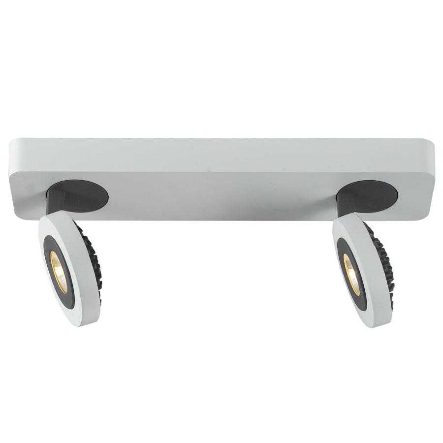 Спот Arte lampСпоты<br>Тип: спот,<br>Стиль светильника: хай-тек,<br>Материал светильника: металл,<br>Количество ламп: 2,<br>Тип лампы: светодиодная,<br>Мощность: 5,<br>Патрон: LED,<br>Цвет арматуры: белый,<br>Ширина: 70,<br>Длина (мм): 300,<br>Высота: 150<br>