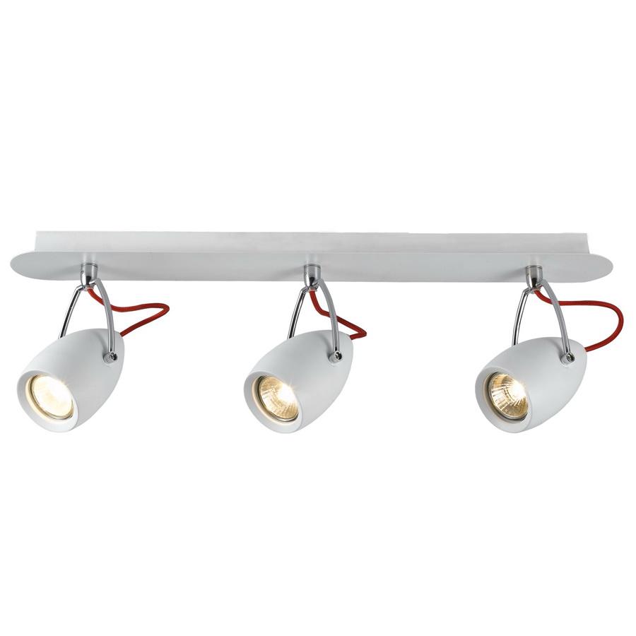 Спот Arte lampСпоты<br>Тип: спот,<br>Стиль светильника: хай-тек,<br>Материал светильника: металл,<br>Количество ламп: 3,<br>Тип лампы: галогенная,<br>Мощность: 50,<br>Патрон: GU10,<br>Цвет арматуры: белый,<br>Ширина: 90,<br>Длина (мм): 570,<br>Высота: 170<br>