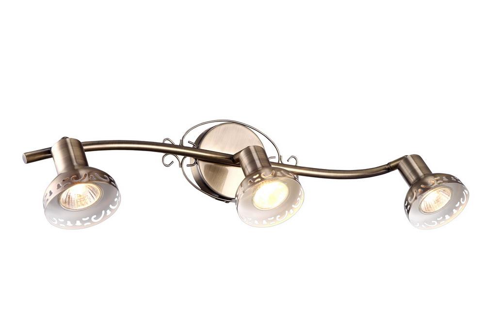 Спот Arte lampСпоты<br>Тип: спот,<br>Стиль светильника: античный,<br>Материал светильника: металл,<br>Количество ламп: 3,<br>Тип лампы: галогенная,<br>Мощность: 35,<br>Патрон: GU10,<br>Цвет арматуры: бронза,<br>Ширина: 160,<br>Длина (мм): 540,<br>Высота: 160<br>