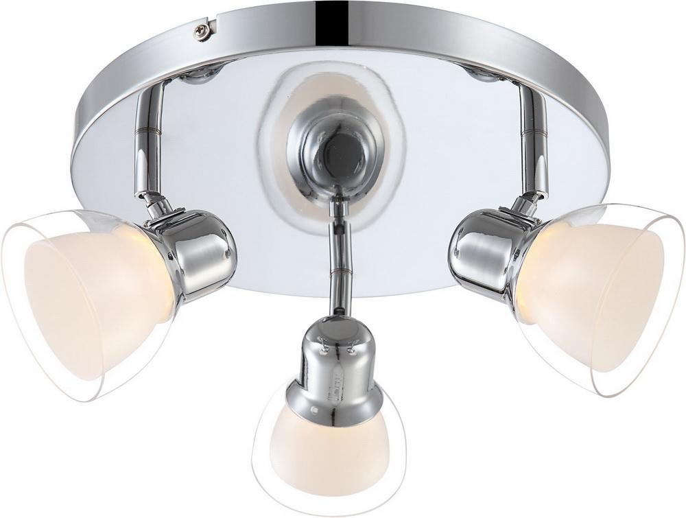 Спот GloboСпоты<br>Тип: спот,<br>Стиль светильника: модерн,<br>Материал светильника: металл, пластик,<br>Количество ламп: 3,<br>Тип лампы: светодиодная,<br>Мощность: 4,<br>Патрон: LED,<br>Цвет арматуры: серебристый,<br>Ширина: 390,<br>Длина (мм): 130,<br>Высота: 390<br>