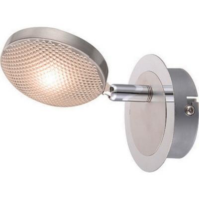 Спот GloboСпоты<br>Тип: спот,<br>Стиль светильника: модерн,<br>Материал светильника: металл, пластик,<br>Количество ламп: 1,<br>Тип лампы: светодиодная,<br>Мощность: 5,<br>Патрон: LED,<br>Цвет арматуры: серебристый,<br>Ширина: 140,<br>Длина (мм): 90,<br>Высота: 90<br>