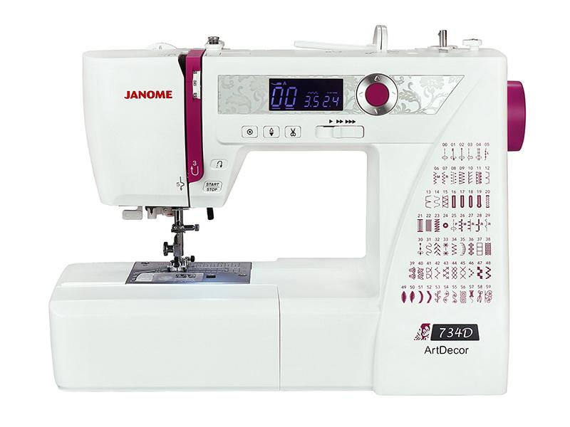 Швейная машинка JanomeШвейные машинки<br>Тип: обычная, Тип управления: компьютерное, Скорость шитья: 820, Подсветка: есть, Количество швейных операций: 60, Выполнение петли: автомат, Число петель: 6, Максимальная длина стежка: 5, Максимальная ширина стежка: 7, Дисплей: есть, Рукавная платформа: есть, Отсек для аксессуаров: есть<br>
