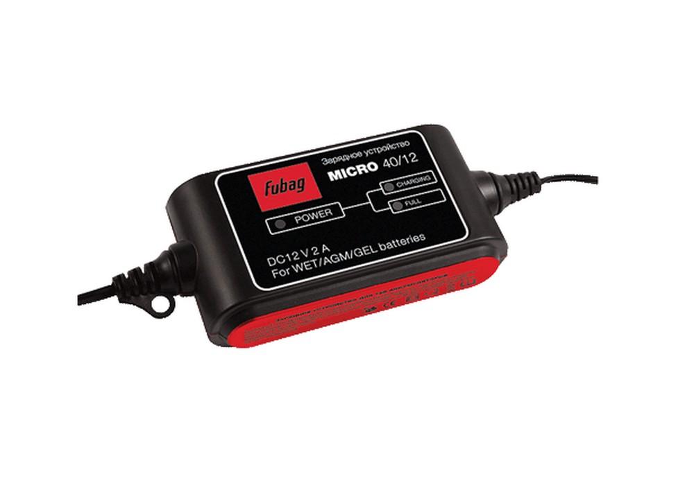Зарядное устройство FubagЗарядные и пуско-зарядные устройства<br>Максимальный ток заряда: 2, Минимальный ток заряда: 2, Пиковый выходной ток: 2, Мощность: 42, Емкость аккумулятора: 40, Назначение зарядного устройства: зарядное, Напряжение аккумулятора: 12, Размеры: 230х145х60<br>