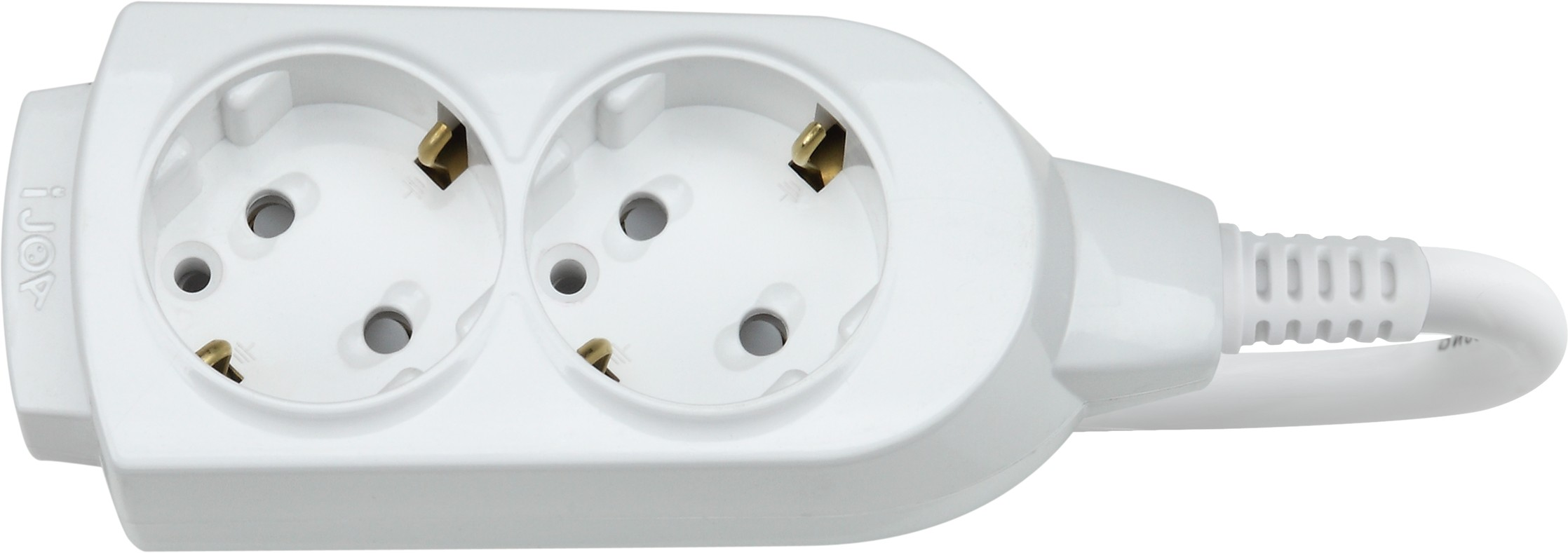 Удлинитель DaesungУдлинители и сетевые фильтры<br>Количество гнезд: 2, Заземление: есть, Тип удлинителя: удлинитель, Марка кабеля: ПВС, Число / сечение жил: 2х1.0, Длина (м): 1.5, Выключатель: нет, Цвет: белый, Шторки: нет, Наличие катушки: нет, USB порт: нет, Сила тока: 10, Автоматическое сматывание кабеля: нет, Степень защиты от пыли и влаги: IP 20<br>