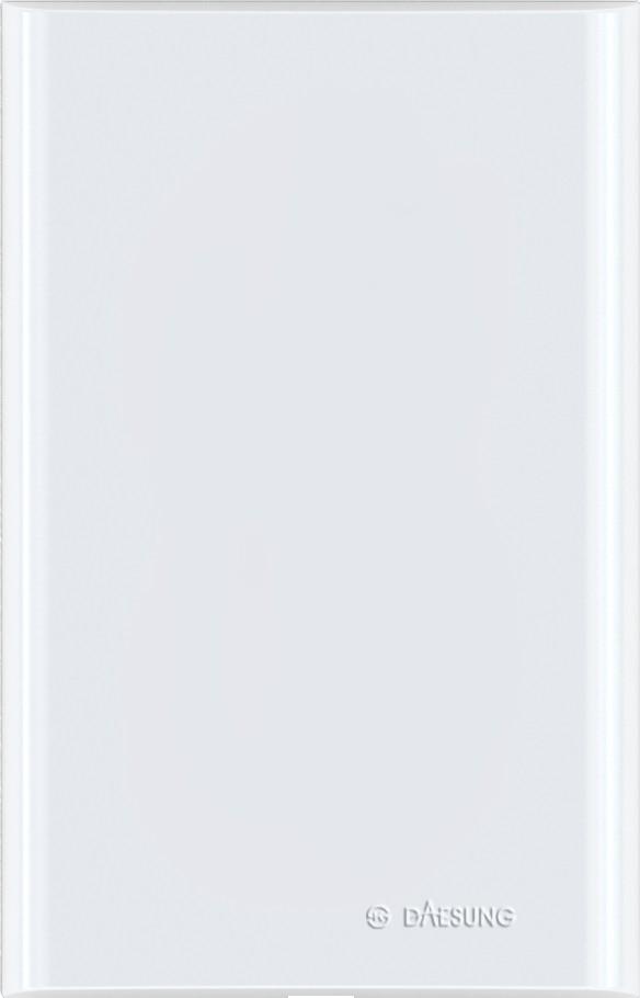 Заглушка DaesungЭлектроустановочные изделия<br>Тип изделия: заглушка,<br>Способ монтажа: скрытой установки,<br>Цвет: белый<br>