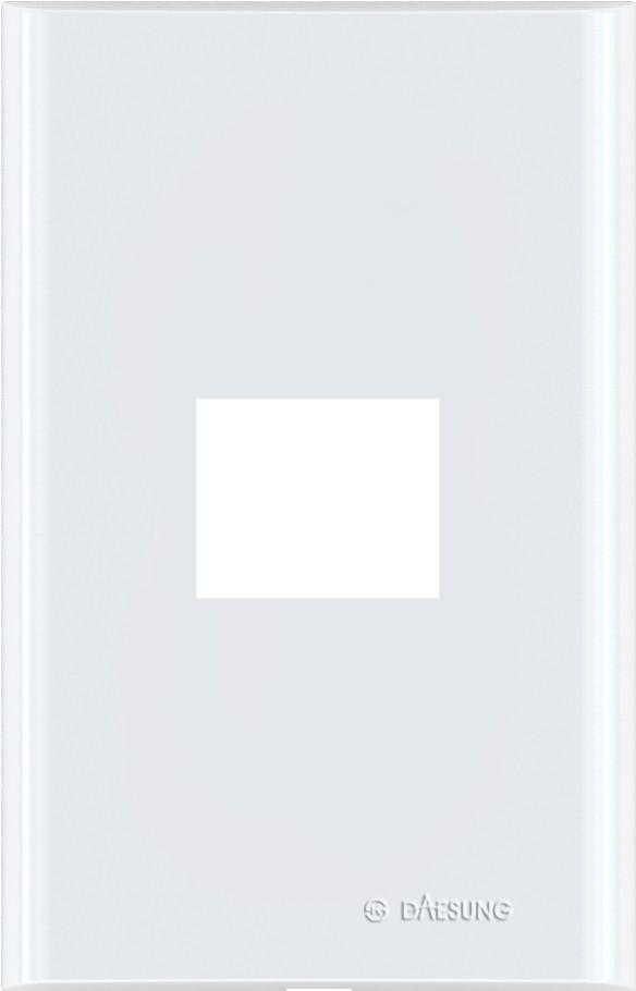 Накладка DaesungЭлектроустановочные изделия<br>Тип изделия: рамка,<br>Способ монтажа: скрытой установки,<br>Цвет: белый,<br>Количество гнезд: 1<br>