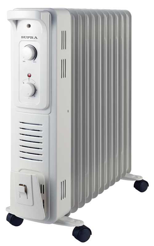 Радиатор SupraРадиаторы масляные<br>Мощность: 2500, Количество секций: 11, Тип: масляный, Количество режимов: 3, Защита от перегрева: есть, Встроенный вентилятор: есть, Напряжение: 220, Тип установки: напольный<br>