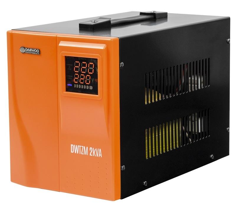 Стабилизатор напряжения DaewooСтабилизаторы и ЛАТРы<br>Мощность полная: 2000, Мощность: 2000, Тип: однофазный стабилизатор, Тип стабилизатора: электронный (релейный), Выходное напряжение: 220, Мин. входное напряжение: 140, Макс. входное напряжение: 270, Тип установки: напольный, Дисплей: цифровой<br>