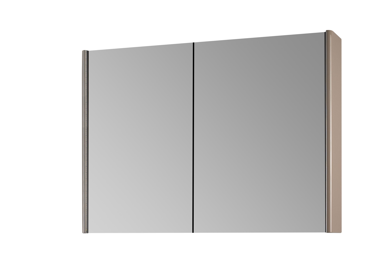 Зеркало-шкаф DrejaМебель для ванной комнаты<br>Тип: шкаф,<br>Тип установки мебели для ванной: подвесной,<br>Материал изготовления мебели для ванной: дсп,<br>Зеркало: есть,<br>Цвет мебели для ванной: серый<br>