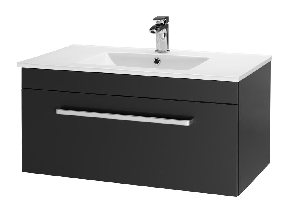 Тумба под раковину DrejaМебель для ванной комнаты<br>Тип: тумба,<br>Тип установки мебели для ванной: под раковину,<br>Материал изготовления мебели для ванной: мдф,<br>Цвет мебели для ванной: чёрный,<br>С ящиками: есть,<br>Коллекция: aston<br>