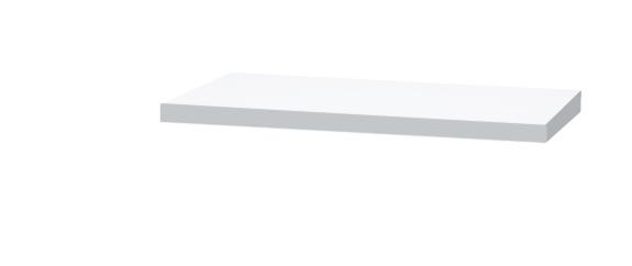 Столешница DrejaМебель для ванной комнаты<br>Тип: столешница,<br>Тип установки мебели для ванной: под раковину,<br>Материал изготовления мебели для ванной: мдф,<br>Цвет мебели для ванной: белый<br>
