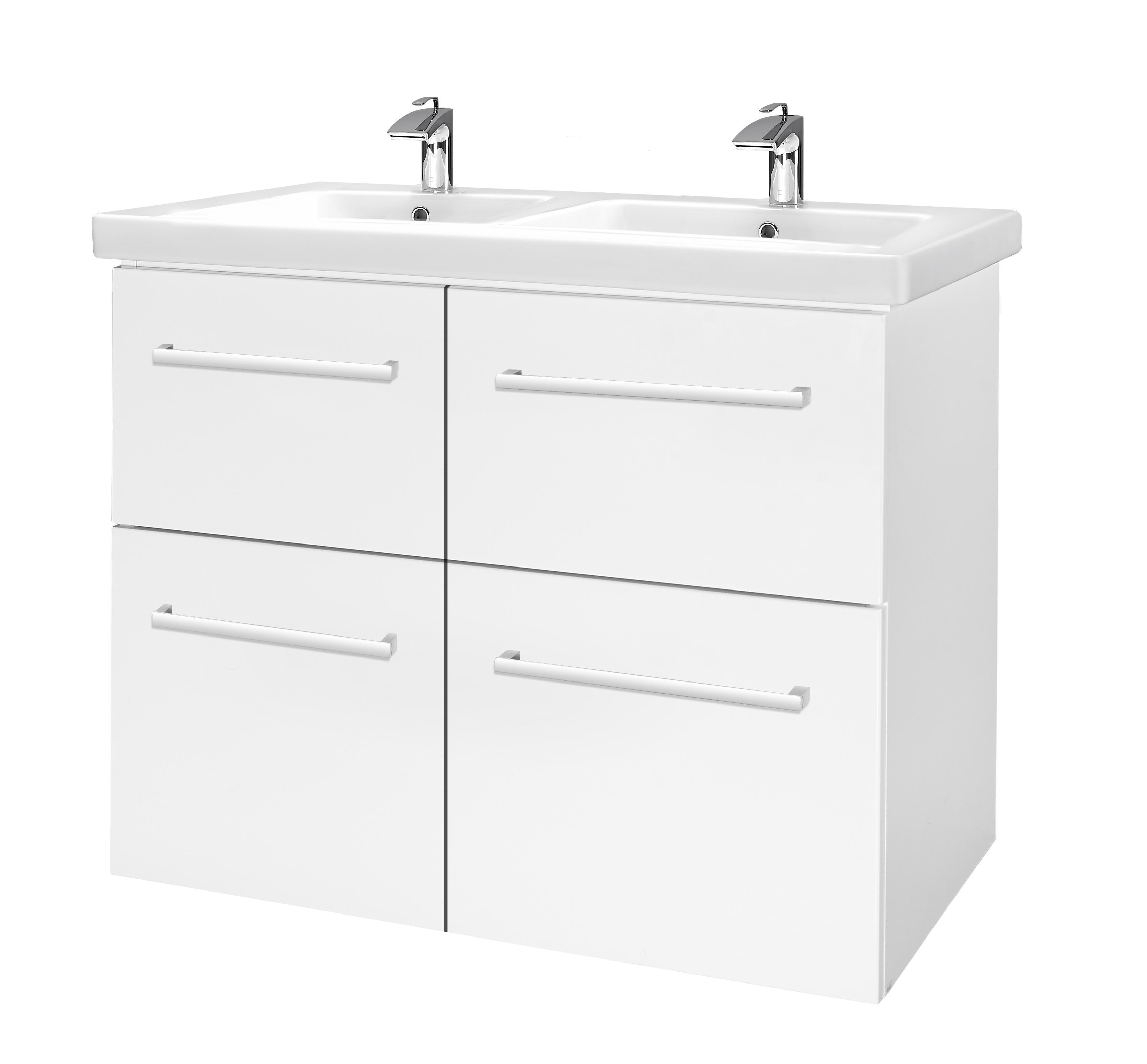 Тумба под раковину DrejaМебель для ванной комнаты<br>Тип: тумба,<br>Тип установки мебели для ванной: под раковину,<br>Материал изготовления мебели для ванной: дсп,<br>Цвет мебели для ванной: белый,<br>С ящиками: есть<br>