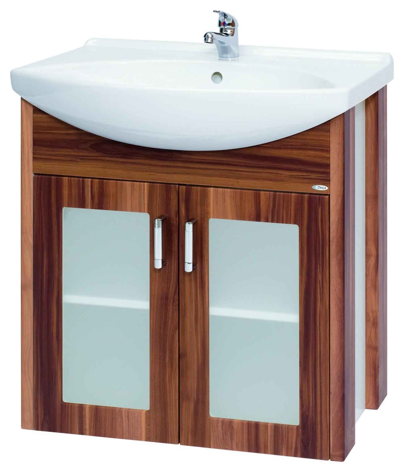Тумба под раковину DrejaМебель для ванной комнаты<br>Тип: тумба,<br>Тип установки мебели для ванной: под раковину,<br>Материал изготовления мебели для ванной: дсп,<br>Цвет мебели для ванной: цвета под дерево<br>