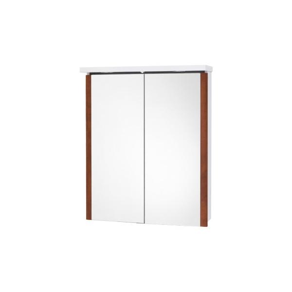 Зеркало-шкаф DrejaМебель для ванной комнаты<br>Тип: шкаф,<br>Тип установки мебели для ванной: подвесной,<br>Материал изготовления мебели для ванной: дсп,<br>Зеркало: есть,<br>Цвет мебели для ванной: цвета под дерево<br>