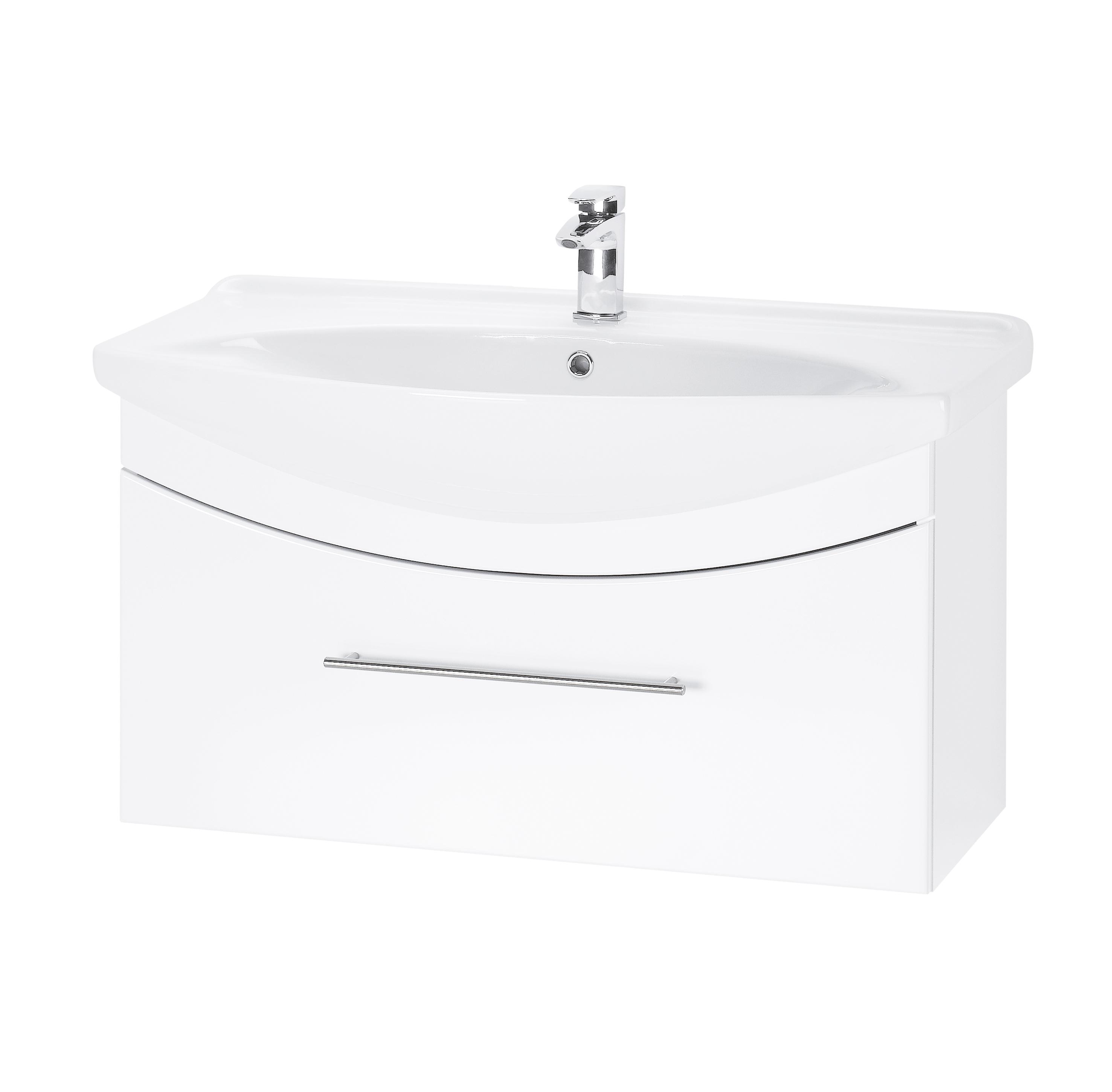 Тумба под раковину DrejaМебель для ванной комнаты<br>Тип: тумба,<br>Тип установки мебели для ванной: под раковину,<br>Материал изготовления мебели для ванной: мдф,<br>Цвет мебели для ванной: белый,<br>С ящиками: есть<br>