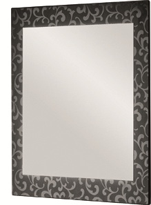 Зеркало DrejaЗеркала<br>Высота: 800,<br>Ширина: 620,<br>Форма зеркала: прямоугольник,<br>Назначение: для ванной,<br>Зеркало в раме: есть,<br>Тип рамы: орнамент,<br>Цвет рамы: черный<br>