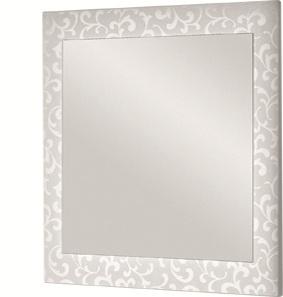 Зеркало DrejaЗеркала<br>Высота: 800,<br>Ширина: 1000,<br>Форма зеркала: прямоугольник,<br>Назначение: для ванной,<br>Зеркало в раме: есть,<br>Тип рамы: орнамент,<br>Цвет рамы: белый<br>