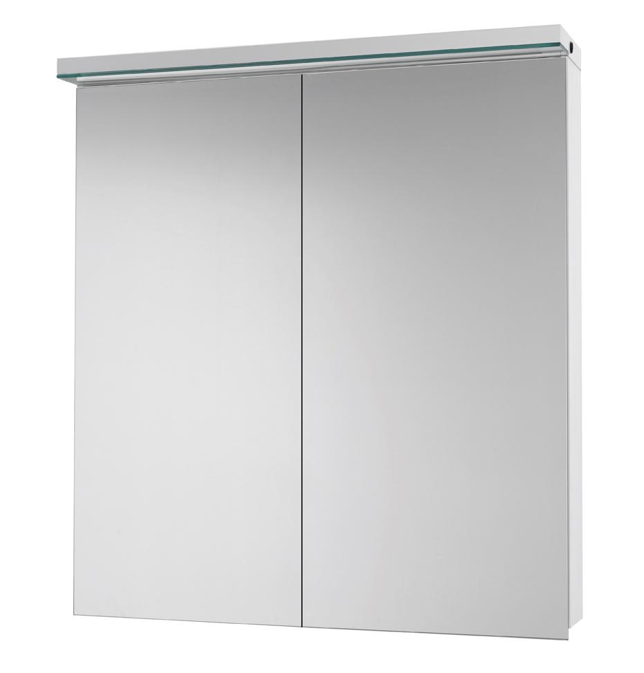 Зеркало-шкаф DrejaМебель для ванной комнаты<br>Тип: шкаф, Тип установки мебели для ванной: подвесной, Материал изготовления мебели для ванной: дсп, Зеркало: есть, Цвет мебели для ванной: белый, С ящиками: есть, Коллекция: aston<br>