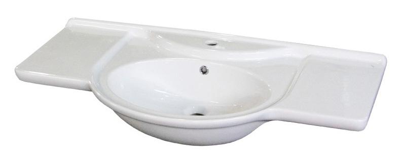 Раковина накладная DrejaРаковины (умывальники)<br>Тип: раковина,<br>Назначение умывальника(раковины): для ванной,<br>Ширина: 1050,<br>Форма раковины: полукруглая,<br>Цвет: белый,<br>Отверстие под смеситель: нет,<br>Материал: керамика,<br>Тип установки раковины: накладной<br>