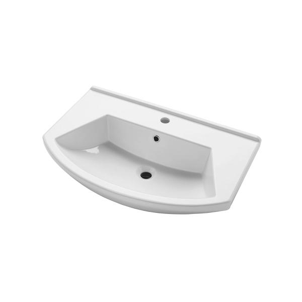 Раковина накладная DrejaРаковины (умывальники)<br>Тип: раковина,<br>Назначение умывальника(раковины): для ванной,<br>Ширина: 750,<br>Форма раковины: полукруглая,<br>Цвет: белый,<br>Отверстие под смеситель: нет,<br>Материал: керамика,<br>Тип установки раковины: накладной,<br>Коллекция: альфа<br>