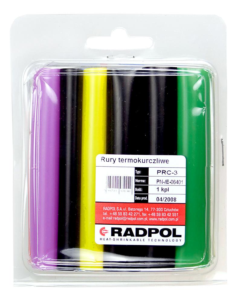 Термоусадочная трубка RadpolАксессуары для электромонтажа<br>Тип аксессуара: термоусадочная трубка,<br>Степень защиты от пыли и влаги: IP 20,<br>Цвет: разноцветный<br>