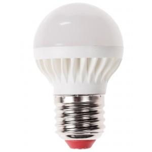 Лампа светодиодная ЭКОНОМКАЛампы<br>Тип лампы: светодиодная,<br>Форма лампы: шар,<br>Цвет колбы: белая,<br>Тип цоколя: Е27,<br>Напряжение: 220,<br>Мощность: 5,<br>Цветовая температура: 4500,<br>Цвет свечения: холодный<br>
