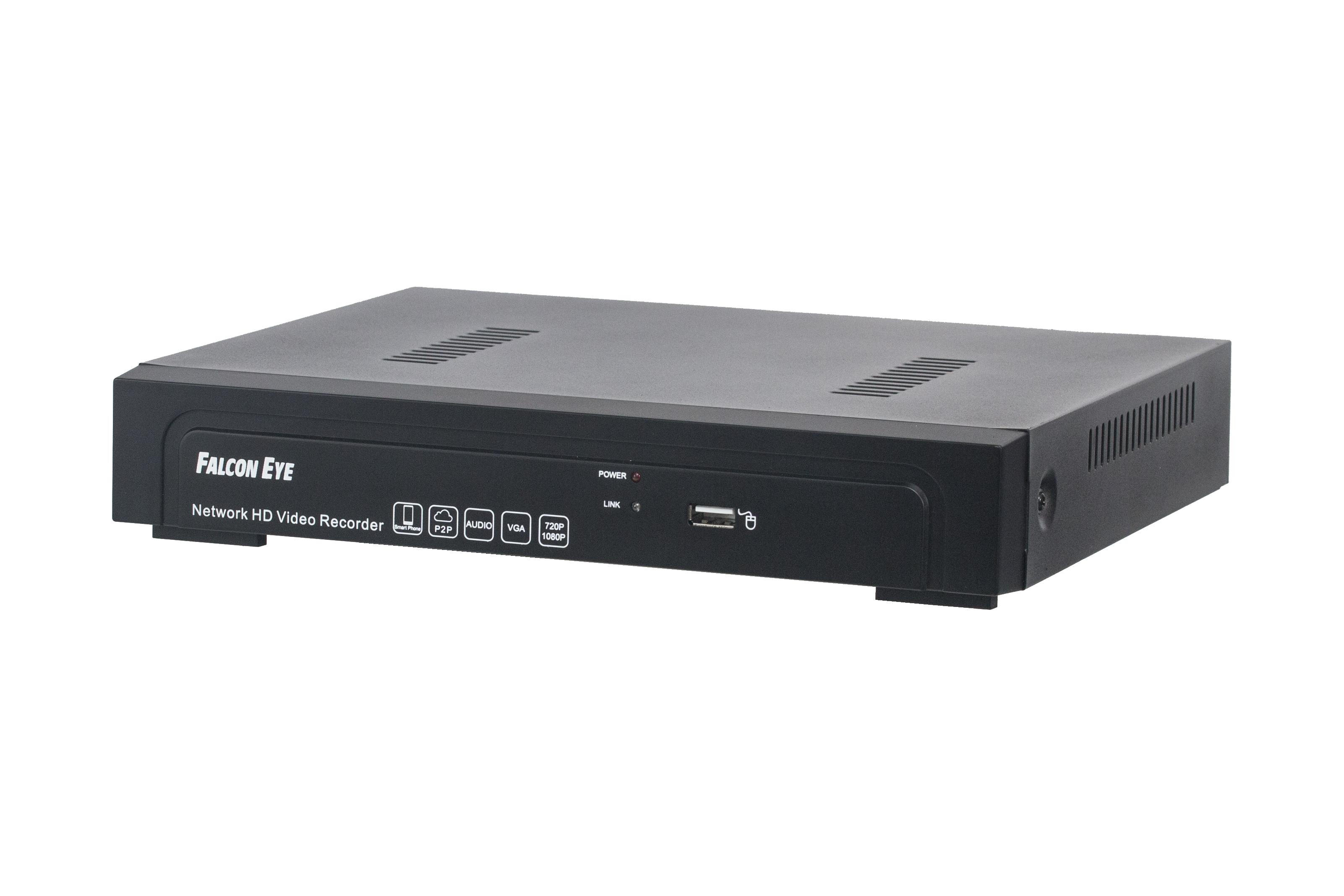 Видеорегистратор Falcon eyeАксессуары для систем видеонаблюдения<br>Назначение: видеорегистратор,<br>Тип: видеорегистратор,<br>Температура: -10C...... +55C,<br>Количество каналов: 10<br>