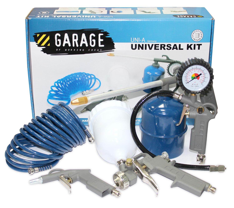 Набор GarageНаборы пневмоинструментов<br>Поставляется в: коробке,<br>Количество предметов в наборе: 5<br>