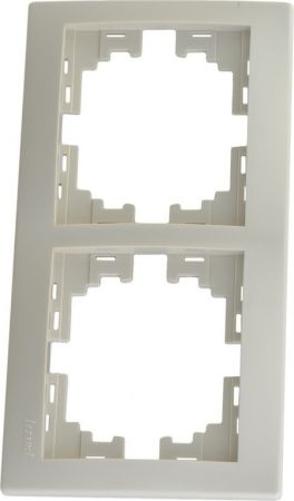 Рамка LezardЭлектроустановочные изделия<br>Тип изделия: рамка, Способ монтажа: скрытой установки, Цвет: кремовый, Количество гнезд: 2, Коллекция: мира<br>