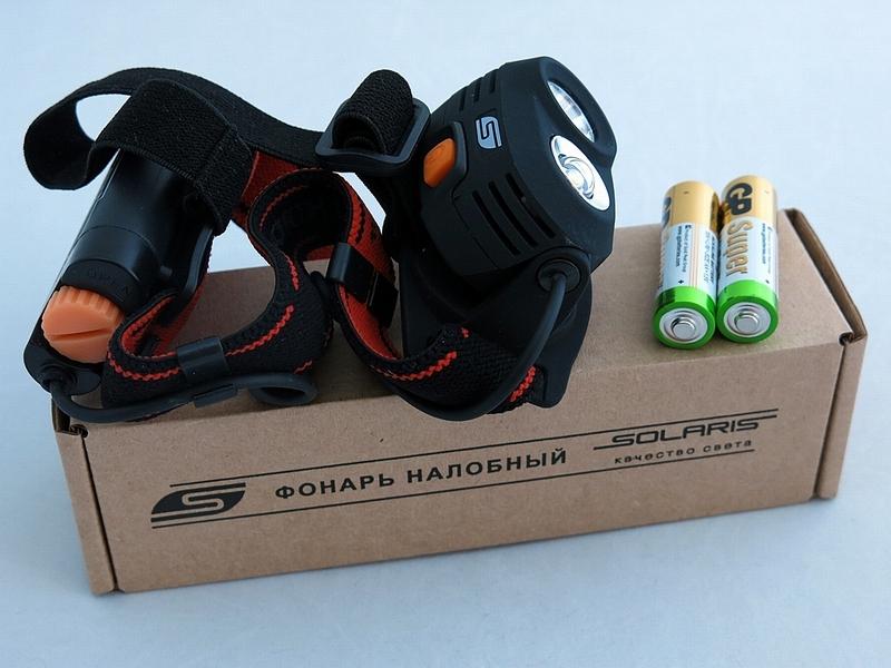 Фонарь SolarisФонари<br>Источники питания: AA,<br>Тип лампы: светодиодная,<br>Тип: налобный,<br>Степень защиты от пыли и влаги: IP X6<br>