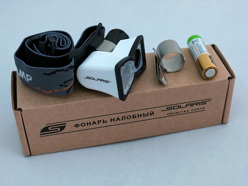 Фонарь SolarisФонари<br>Источники питания: AA,<br>Тип лампы: светодиодная,<br>Тип: налобный,<br>Степень защиты от пыли и влаги: IP X8<br>