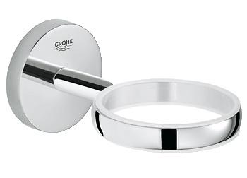 Держатель GroheДержатели для ванной комнаты<br>Назначение: для стакана,<br>Цвет покрытия: хром,<br>Материал: металл,<br>Способ крепления: на стену,<br>Высота: 54,<br>Ширина: 54,<br>Глубина: 111<br>