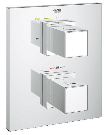 Cмеситель термостатический GroheСмесители<br>Назначение смесителя: для ванны,<br>Наличие термостата: есть,<br>Тип управления смесителя: однорычажный,<br>Цвет покрытия: хром,<br>Стиль смесителя: модерн,<br>Монтаж смесителя: вертикальный,<br>Тип установки смесителя: скрытая установка,<br>Излив: традиционный,<br>Родина бренда: Германия,<br>Длина (мм): 98,<br>Ширина: 171,<br>Высота: 197<br>