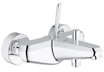Смеситель GroheСмесители<br>Назначение смесителя: для ванны,<br>Тип управления смесителя: однорычажный,<br>Цвет покрытия: хром,<br>Стиль смесителя: модерн,<br>Монтаж смесителя: вертикальный,<br>Тип установки смесителя: настенный,<br>Излив: традиционный,<br>Аэратор: есть,<br>Родина бренда: Германия,<br>Длина (мм): 187,<br>Ширина: 165,<br>Высота: 104<br>