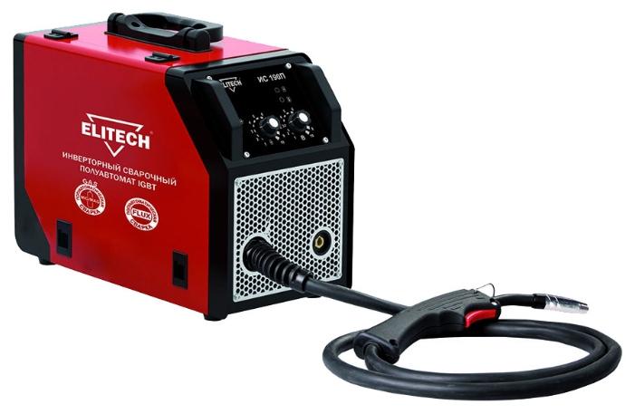 Сварочный аппарат ElitechСварочное оборудование<br>Макс. сварочный ток: 150,<br>Мощность: 4200,<br>Напряжение: 230,<br>Мин. входное напряжение: 198,<br>Выходной ток: 30-150,<br>Напряжение холостого хода: 42,<br>Мин. диаметр проволоки: 0.6,<br>Макс. диаметр проволоки: 0.8,<br>Тип сварочного аппарата: инверторный,<br>Тип сварки: полуавтоматическая (MIG/MAG),<br>Инверторная технология: есть,<br>Размеры: 445х215х340,<br>Класс: проф.,<br>Режим работы ПН %: 80,<br>Вес нетто: 11.8<br>