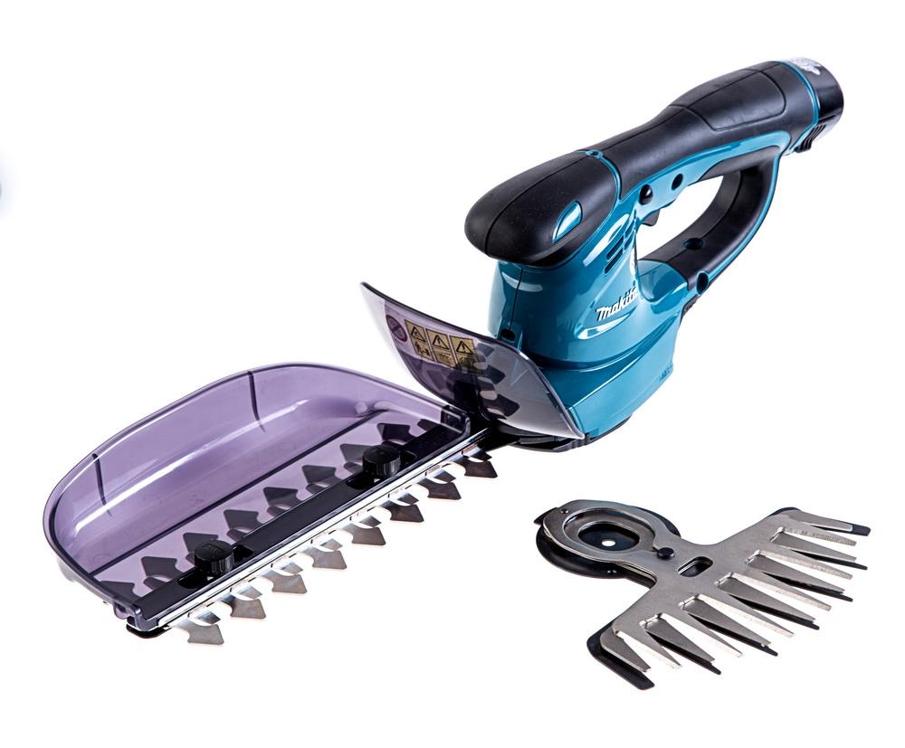 Ножницы MakitaКусторезы и ножницы<br>Тип: ножницы,<br>Сменные ножи: есть,<br>Аккумуляторов в комплекте: один,<br>Аккумулятор: 10.8,<br>Емкость аккумулятора: 1.3,<br>Тип аккумулятора: LiION,<br>Питание от аккумулятора: есть,<br>Тип двигателя: электрический,<br>Обороты: 1250,<br>Ширина обработки: 160,<br>Толщина реза: 8,<br>Вес нетто: 1.2<br>