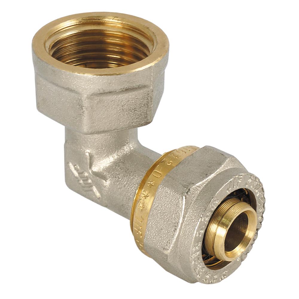Уголок JifУголки для труб<br>Материал фитинга: латунь, Тип трубного соединения: резьба, Присоединительный размер: 1/2  , Диаметр арматуры: 20<br>