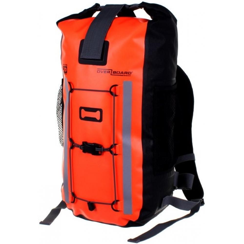Рюкзак OverboardРюкзаки<br>Назначение рюкзака: туристический,<br>Тип конструкции: анатомический,<br>Тип: рюкзак,<br>Объем: 20,<br>Число лямок: 2,<br>Высота: 430,<br>Ширина: 240,<br>Толщина: 165,<br>Материал: ПВХ,<br>Цвет: оранжевый,<br>Боковые карманы: есть,<br>Грудная стяжка: есть,<br>Поясной ремень: есть<br>
