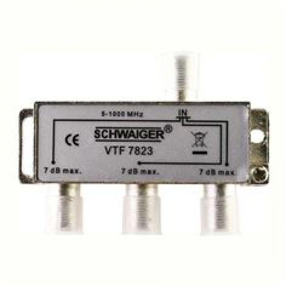 Разветвитель SchwaigerРазъемы, адаптеры<br>Тип: разветвитель, Тип соединения: TV/TV, Назначение: аудио/видео<br>