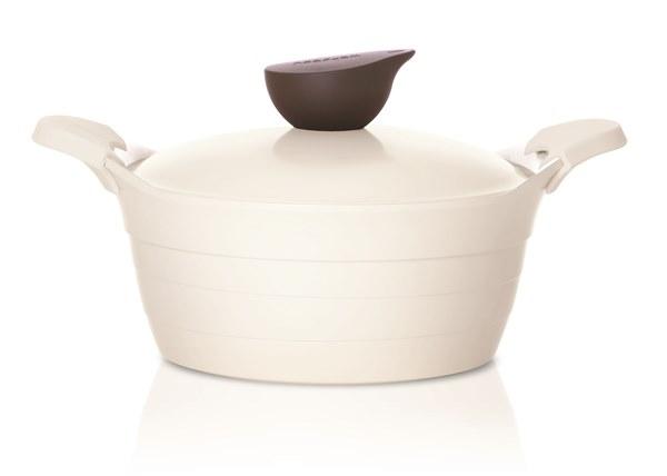 Кастрюля FrybestКастрюли, ковши, сотейники<br>Тип: кастрюля,<br>Материал: керамика,<br>Объем: 4.5,<br>Диаметр: 240,<br>Покрытие чаши: керамическое,<br>Наличие крышки: есть<br>