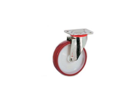 Колесо Tellure rotaПринадлежности для складского оборудования<br>Тип: колесо,<br>Материал: полиуретан,<br>Тип колеса: промышленное,<br>Диаметр колес, мм: 150,<br>Способ крепления: под площадку,<br>Поворот: есть<br>