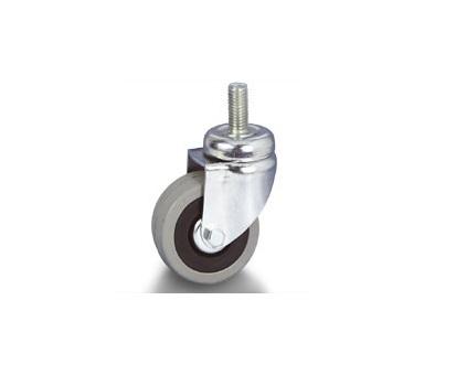 Колесо Tellure rotaПринадлежности для складского оборудования<br>Тип: колесо, Материал: резина, Диаметр колес, мм: 50, Способ крепления: со штырем, Поворот: есть<br>