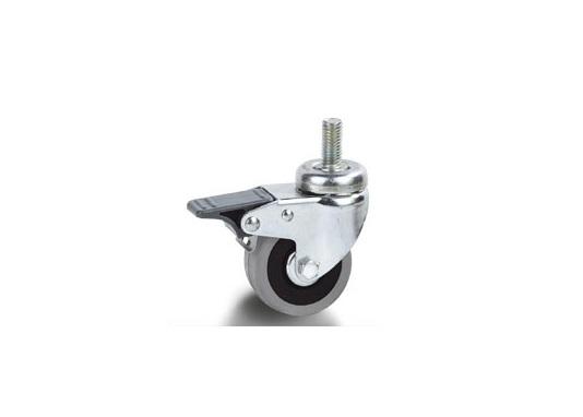 Колесо Tellure rotaПринадлежности для складского оборудования<br>Тип: колесо,<br>Материал: резина,<br>Диаметр колес, мм: 125,<br>Способ крепления: со штырем,<br>Поворот: есть<br>
