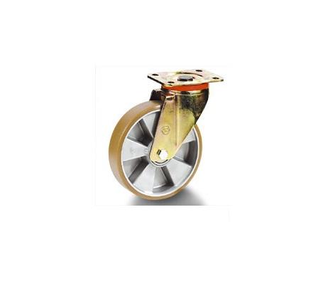 Колесо Tellure rotaПринадлежности для складского оборудования<br>Тип: колесо,<br>Материал: полиуретан,<br>Тип колеса: промышленное,<br>Диаметр колес, мм: 125,<br>Способ крепления: под площадку,<br>Поворот: есть<br>