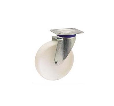 Колесо Tellure rotaПринадлежности для складского оборудования<br>Тип: колесо,<br>Материал: полиамид,<br>Тип колеса: промышленное,<br>Диаметр колес, мм: 200,<br>Способ крепления: под площадку,<br>Поворот: есть<br>