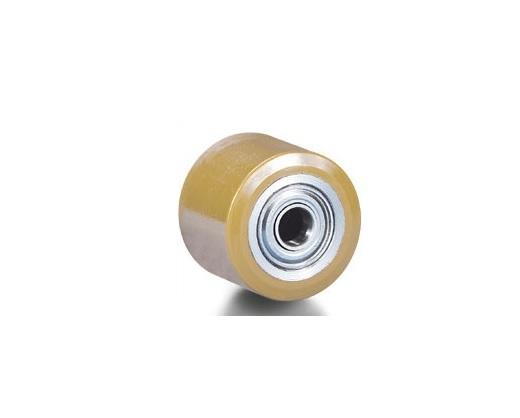 Ролик Tellure rotaПринадлежности для складского оборудования<br>Тип: ролик, Материал: полиуретан, Диаметр колес, мм: 82, Размеры: 82х90<br>