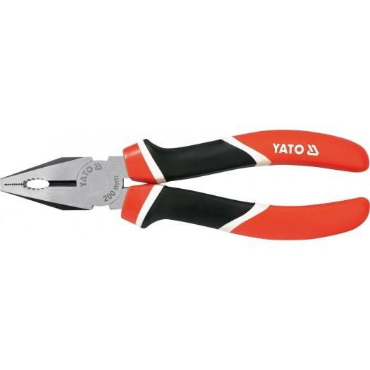Плоскогубцы YatoПлоскогубцы<br>Длина (мм): 200,<br>Тип: плоскогубцы,<br>Материал губок: инструментальная сталь,<br>Материал рукоятки: двухкомпонентные<br>