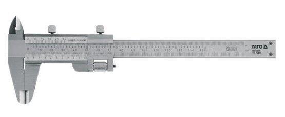 Штангенциркуль YatoЛинейки и штангенциркули<br>Тип: штангенциркуль,<br>Тип штангенциркуля: нониусный,<br>Длина (мм): 150<br>