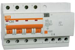 Диф. автомат ТДМАвтоматические выключатели<br>Номинальный ток: 10,<br>Тип выключателя: дифавтомат,<br>Количество полюсов: 4,<br>Номинальный отключающий дифференциальный ток: 30,<br>Степень защиты от пыли и влаги: IP 20,<br>Количество модулей: 4<br>